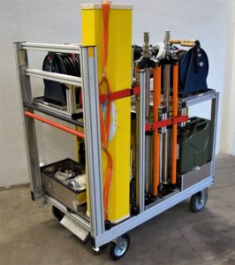Rollcontainer Strom und Licht